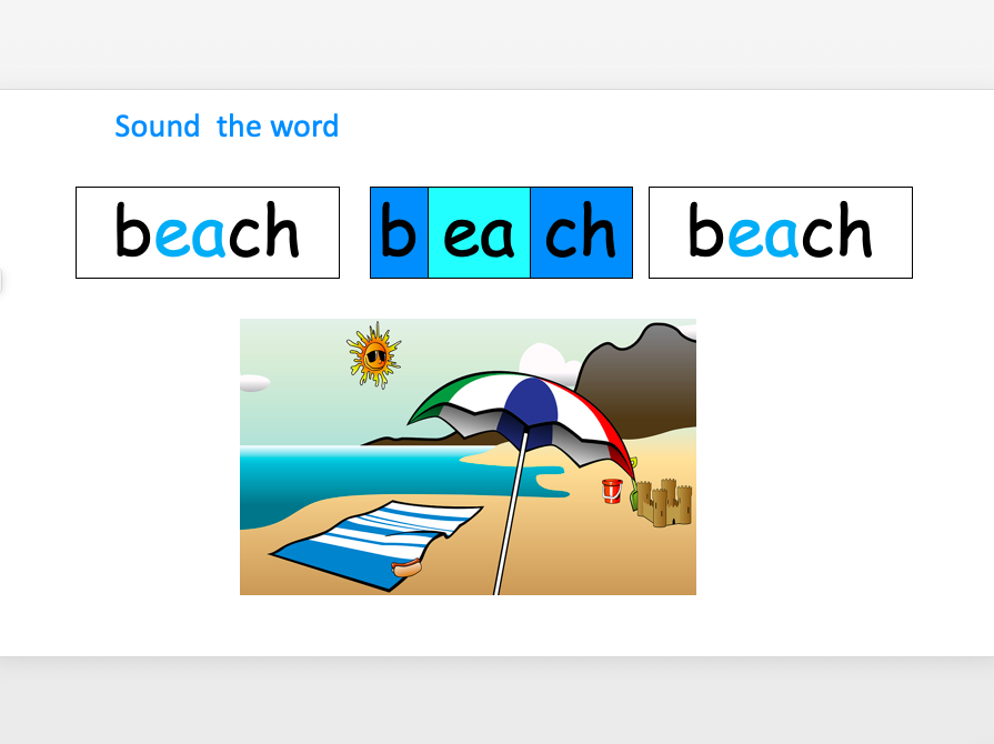 Phonics - 'ea' as in beach - Introduce and Teach