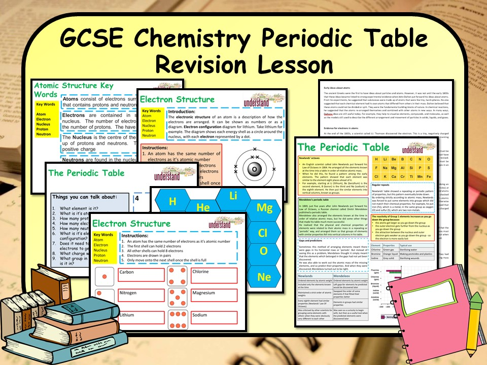 KS4 GCSE Chemistry (Science) Periodic Table & Atomic Theory Revision Lesson