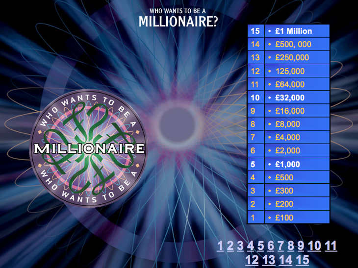 Materials, Processing and Forming Techniques - Who Wants to be a Millionaire
