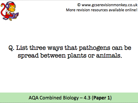 Revision Cards - AQA Combined Biology 4.3