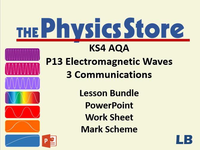 KS4 Physics AQA P13 3 Communications Lesson Bundle