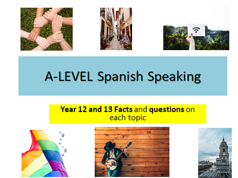 A-Level Spanish Year 12 and Year 13 - Speaking- Key facts and questions on each topic