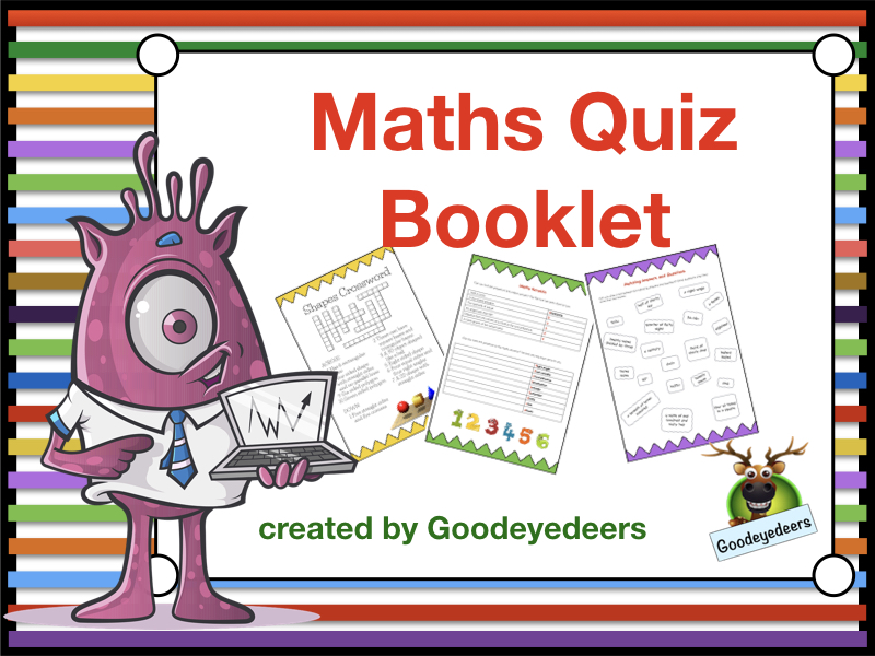 Maths Quiz Booklet - KS2/3