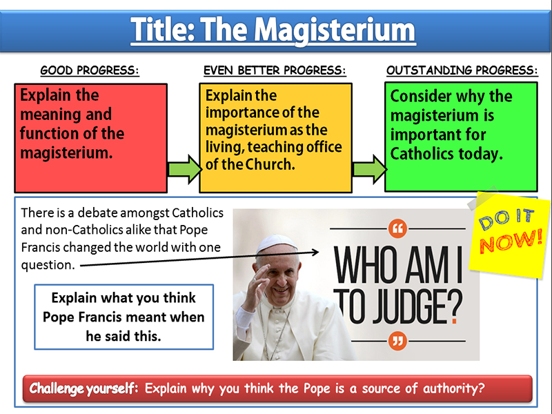 The Magisterium: Lesson 3 - Sources of Wisdom and Authority