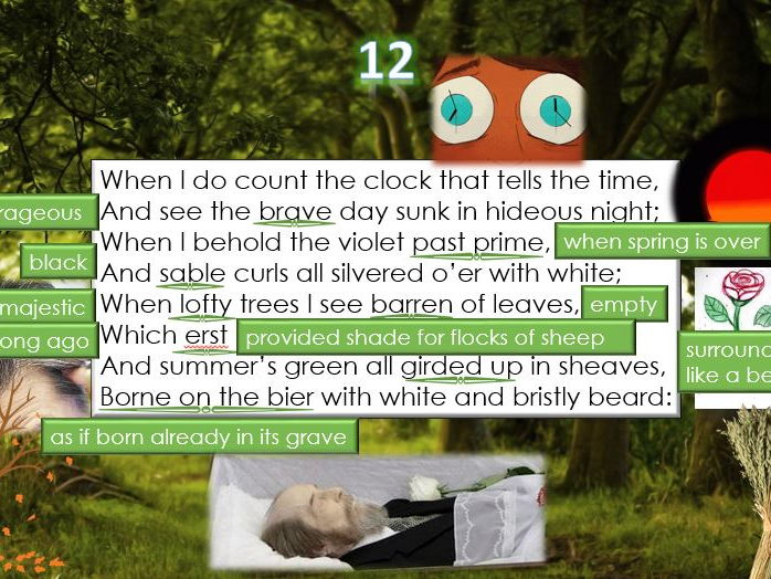 Line by Line: Shakespeare's Sonnet 12