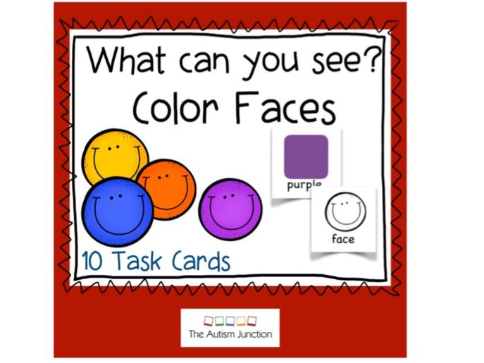 What can you see? Color Faces US version