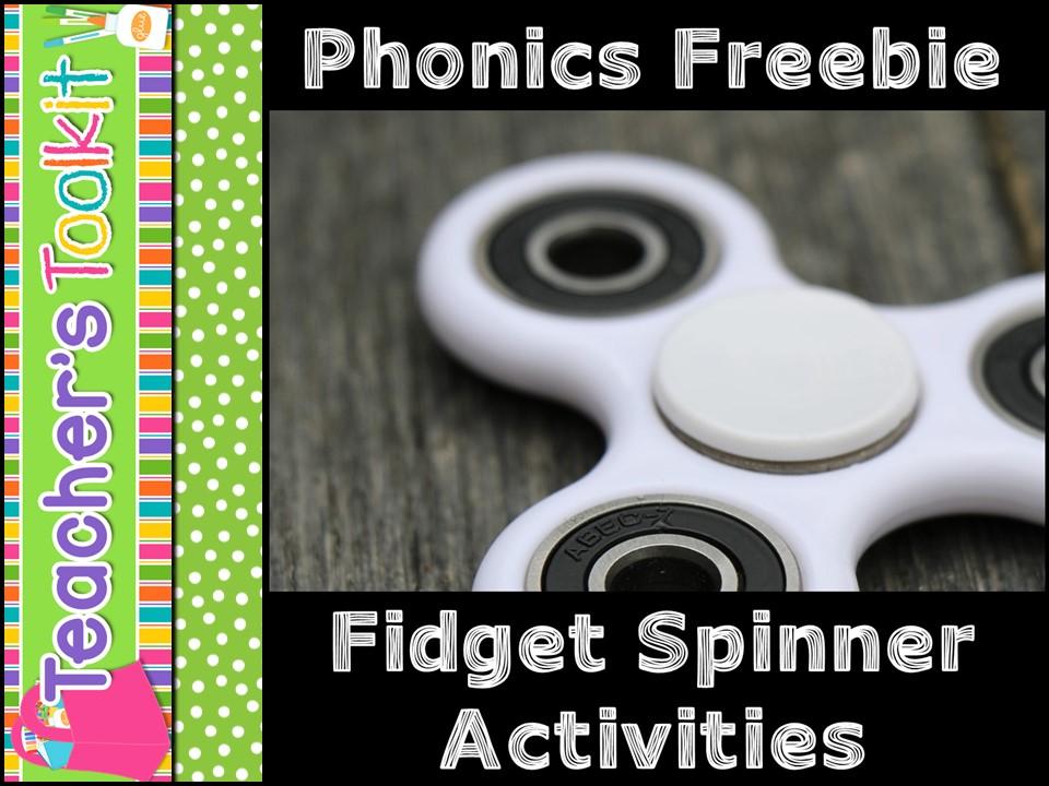 {Freebie} Phonics:  Fidget Spinner Activities