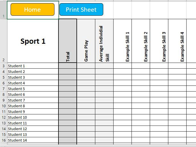 9-1 GCSE Edexcel Sports Tracker