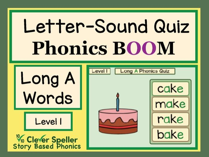 Phonics Practice Boom Cards Long A Words Level 1