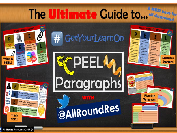 @AllRoundRes ULTIMATE PEEL Paragraph Guide! + Planning Pages!