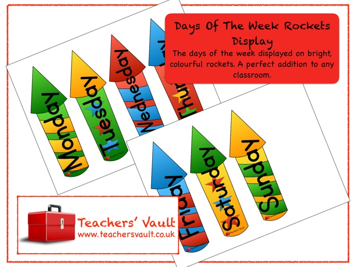 Days Of The Week Rockets Display