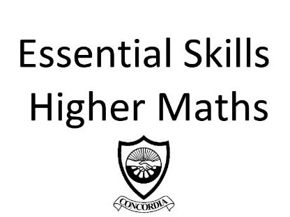 Scottish Higher Maths Essential Skills