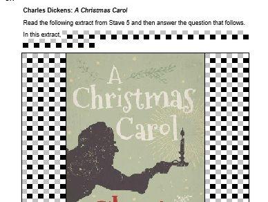 A Christmas Carol Mock Exam Questions - AQA - Stave 2