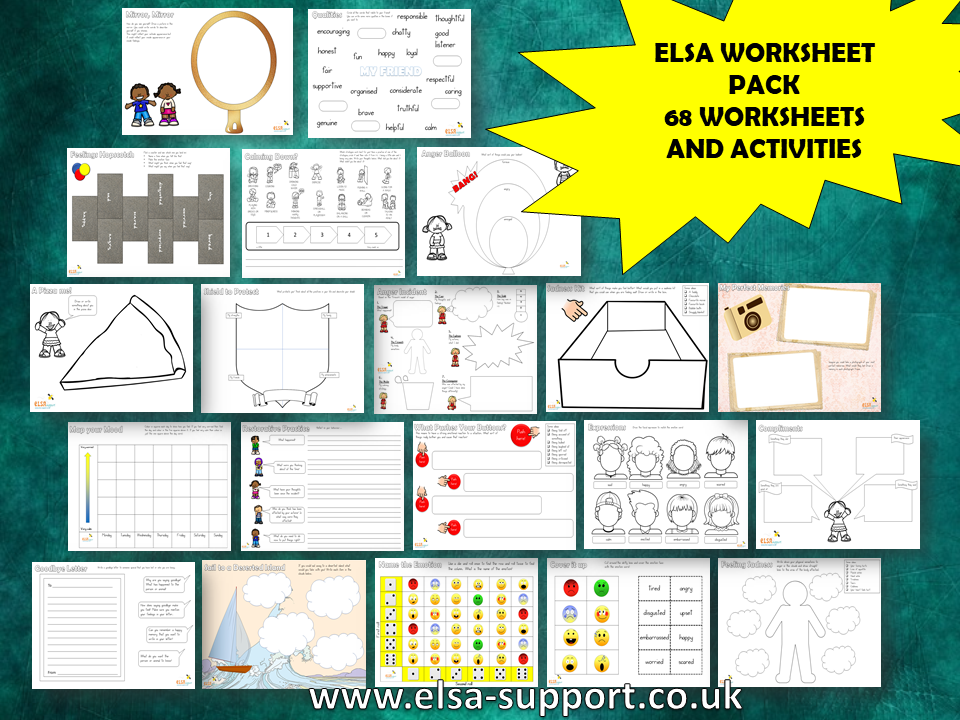 ELSA worksheet and activity pack - social and emotional resources, PSHE