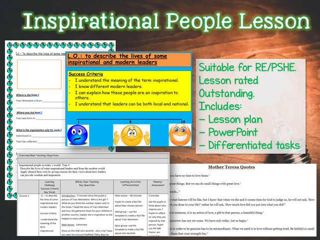 KS2 Inspirational People Lesson for RE or PSHE