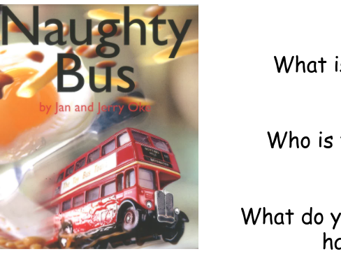The Naughty Bus English Unit of Work