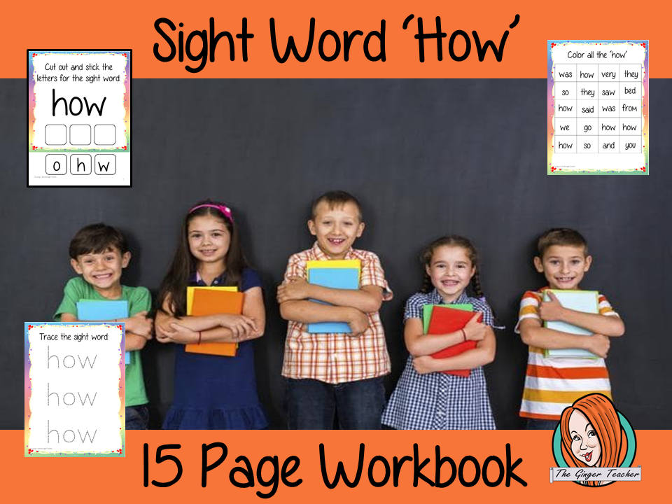 Sight Word 'How' 15 Page Workbook