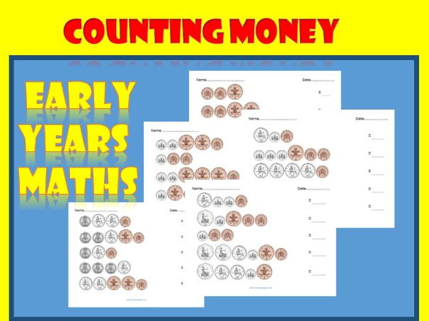 Counting Money: 25 Worksheets for Early Years Maths