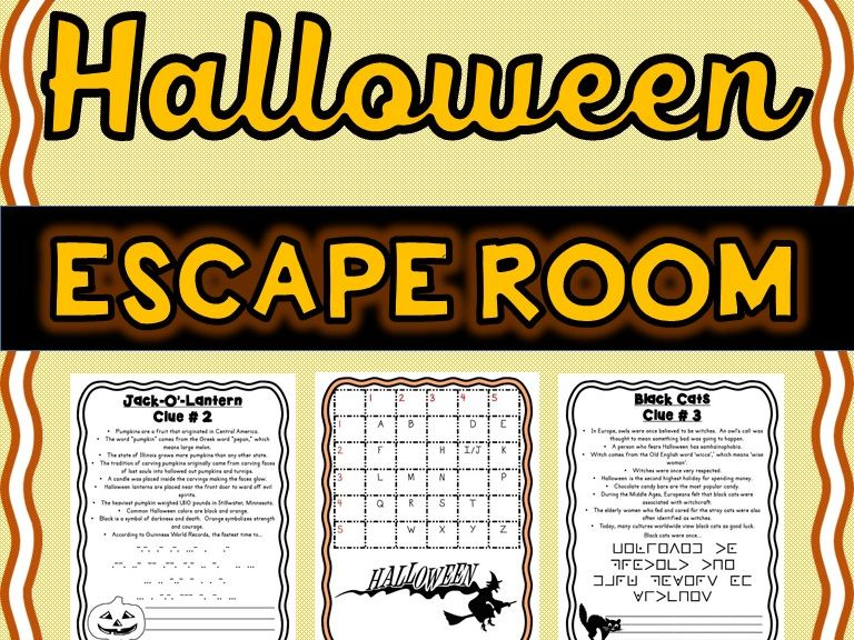 Halloween Escape Room - No Prep!