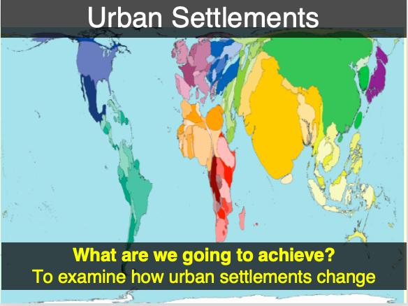 IGCSE/GCSE Introduction to Urban Settlements