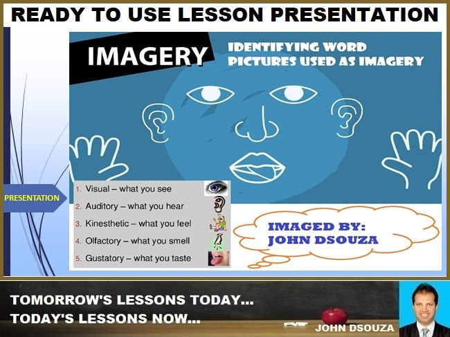 IMAGERY TYPES: READY TO USE LESSON PRESENTATION
