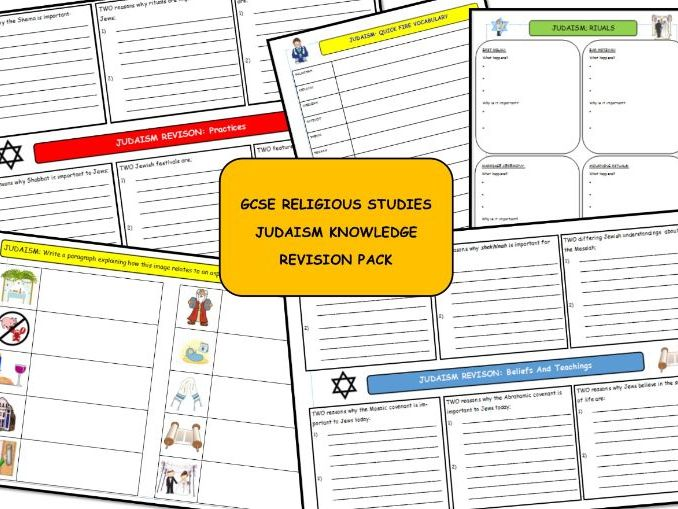 GCSE RE: Judaism Knowledge Revision pack