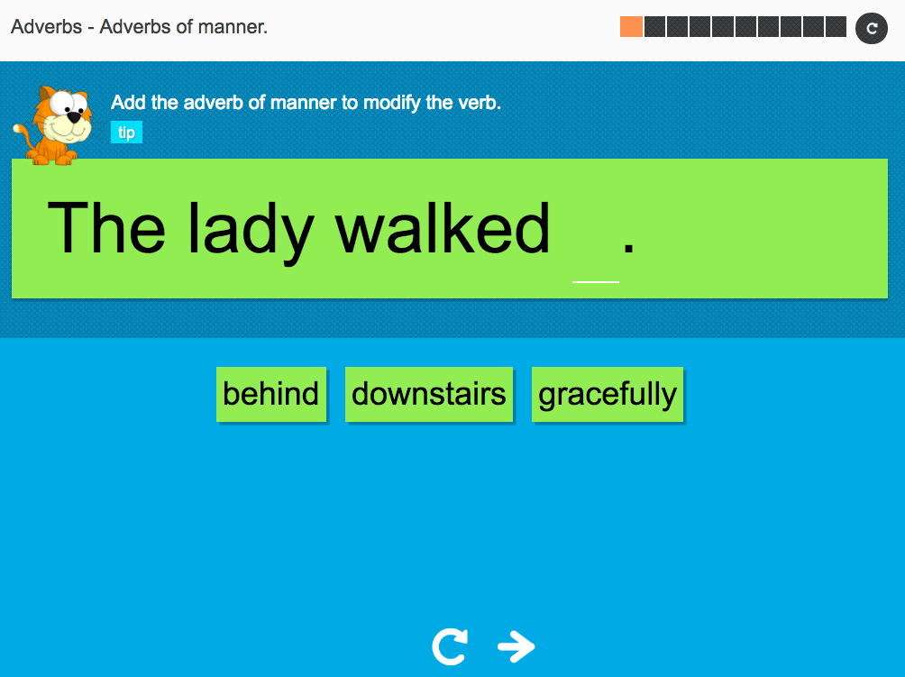 Adverbs of manner - Interactive Activity - KS3 Spag