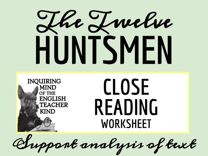"Grimms' Fairy Tale ""The Twelve Huntsmen"" Close Reading"