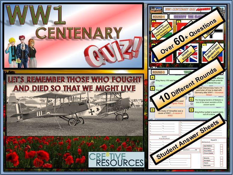 WW1 -100 Years - World War 1 Centenary Quiz Lesson