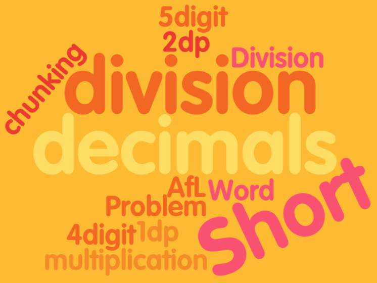 UKS2 (Year 5 and Year 6) - short division with decimals
