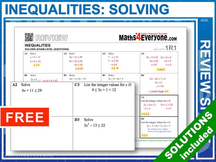 Solving Inequalities (GCSE Revision)