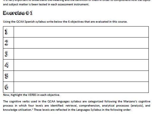 QCAA Languages Explained SPANISH