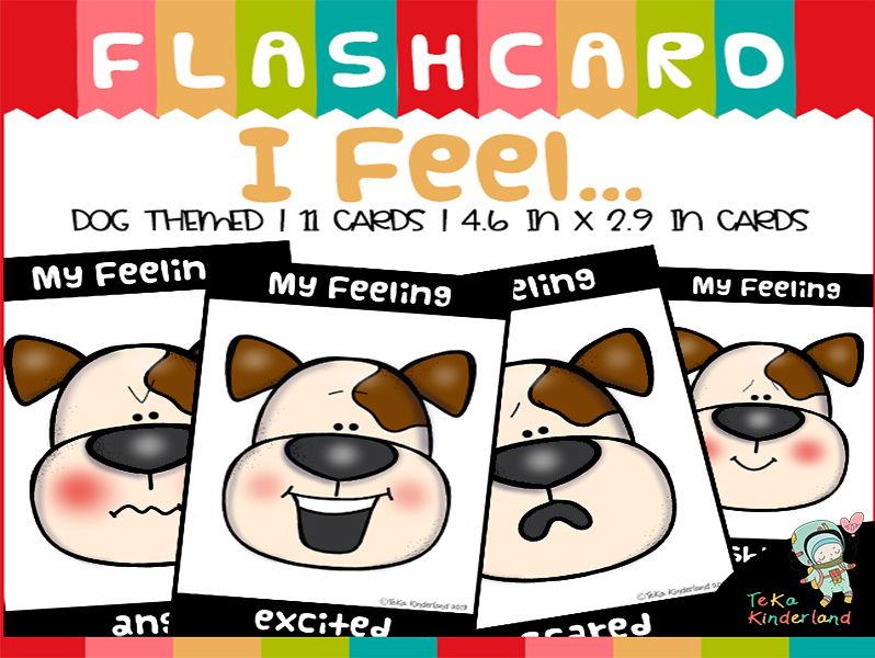 Feeling and Emotion Flash Cards | All About Me | TeKa Kinderland