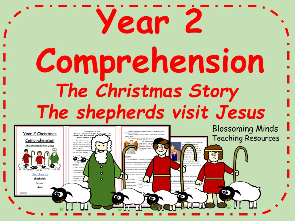 Year 2 Christmas comprehension - The shepherds visit Jesus