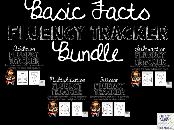 Basic Facts Fluency Tracker BUNDLE