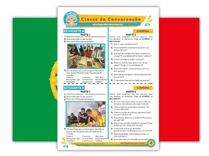 Comida - Portuguese Speaking Activity