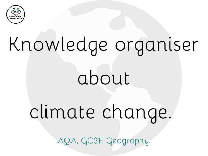 Climate Change Knowledge Organiser (AQA, GCSE)