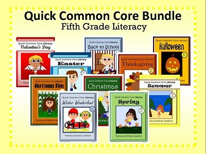 Fifth Grade Literacy QCC Bundle