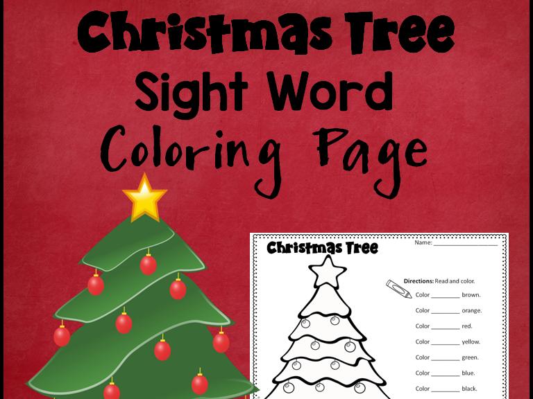 Christmas Tree Sight Word Activity Sheet *Editable*
