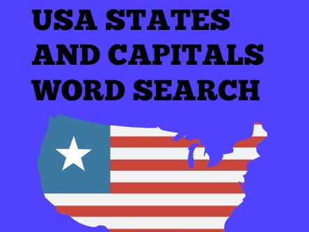 US States and Capitals Word Search