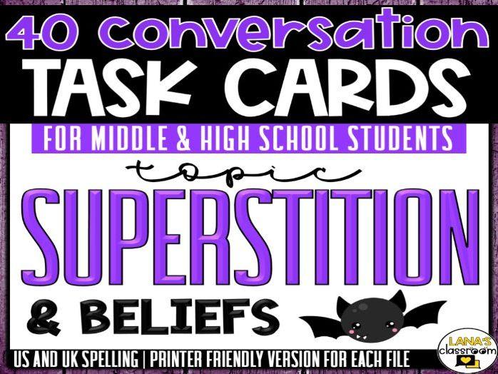 Conversation Starter Cards   Superstition   Social Skills for Middle&High