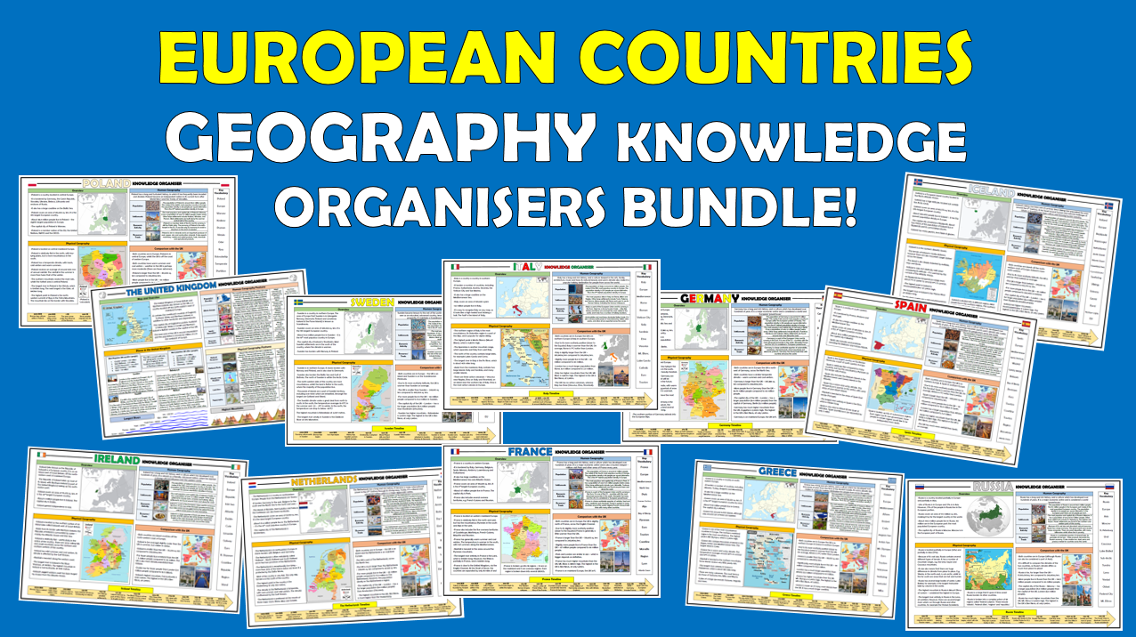 European Countries KS2 Geography Knowledge Organisers Bundle!