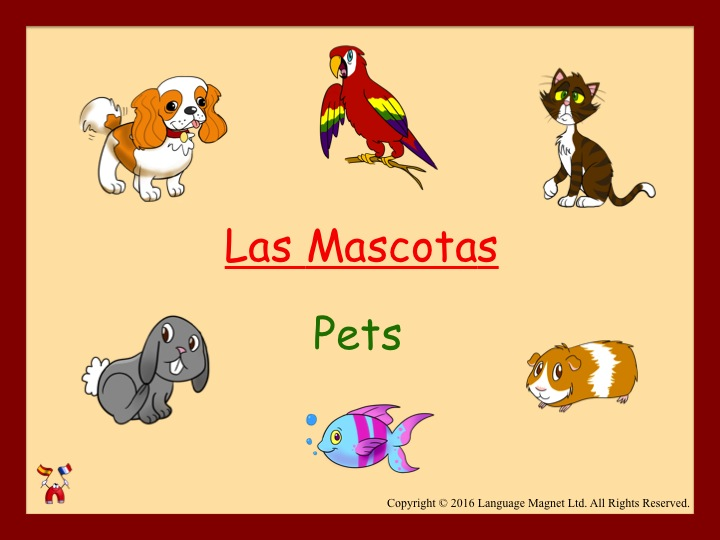 Spanish Pets Audio Sheet
