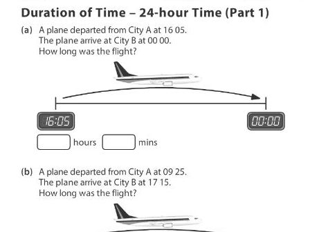 Duration of Time - 24-hour Time (Part 1)