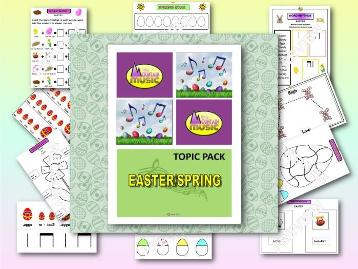 Music Topic Pack - EASTER/SPRING