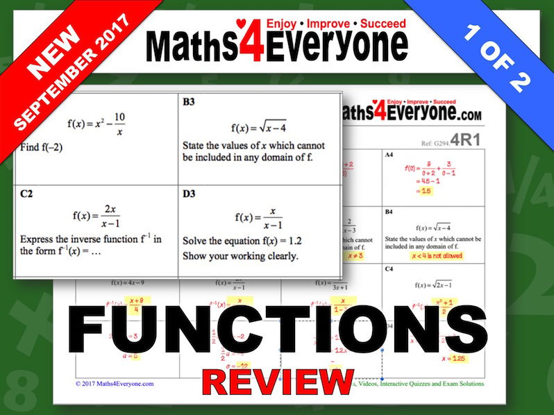 Functions  (Review Questions)