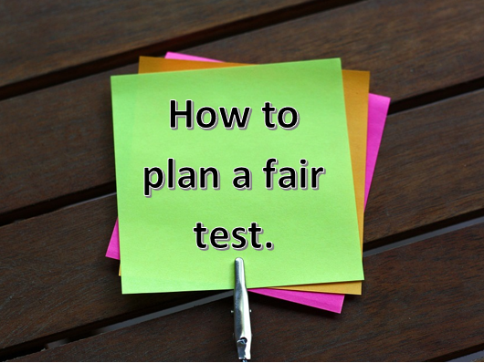 Materials Year 5- Planning a fair test