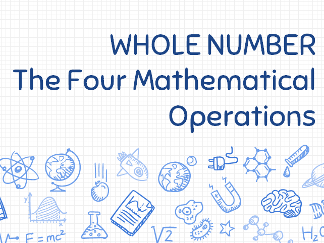 Functional Skills Maths - Whole Number and Mathematical Operations