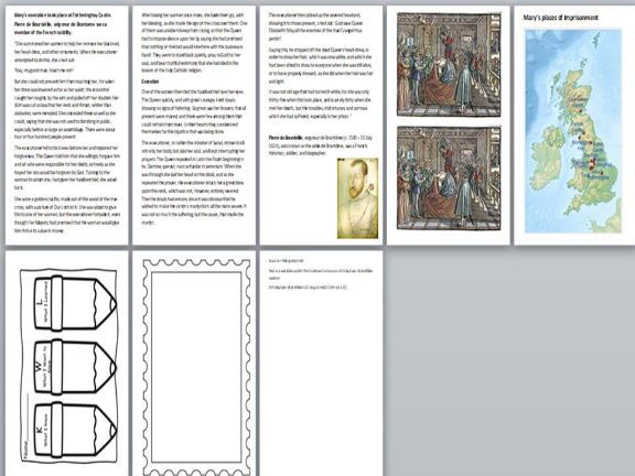 Mary Queen of Scots Activity Pack