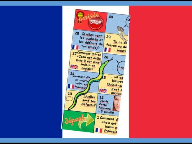 French Personal Information Serpents et Echelles
